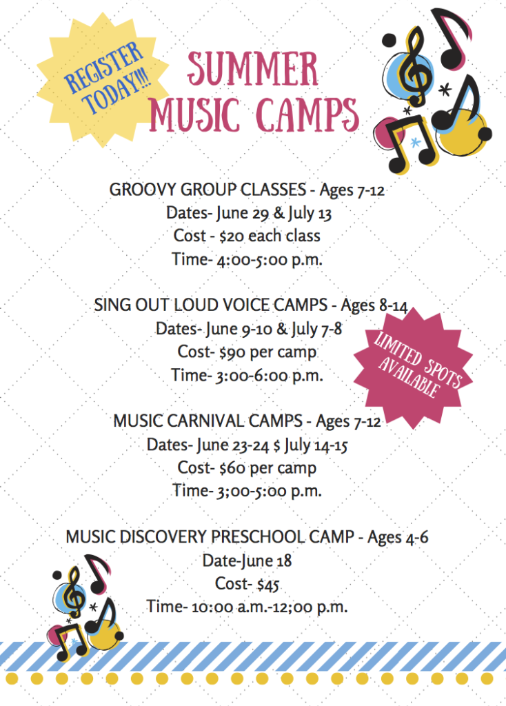 List of Summer Music Camps